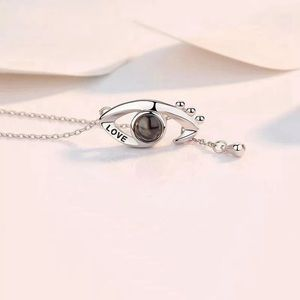 "Evil Eye necklace ""I LOVE YOU"""
